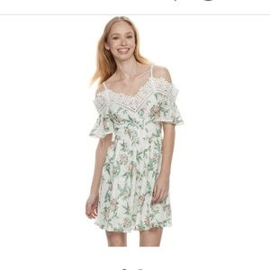 Disney Princess Floral Cold Shoulder Dress L
